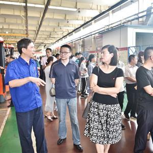 省旅游集团、皖维集团党务干部到公司参观交流党建工作